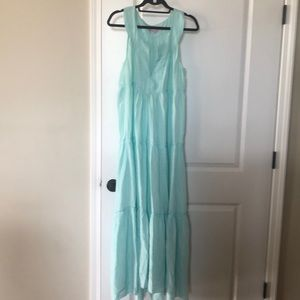 Calypso aqua maxi dress